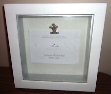 "HALLMARK ""LIVE IN THE JOY OF GOD'S LOVE"" RELIGIOUS WHITE FRAME SHADOW BOX 8"" X8"""