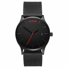 MVMT Watches Black Face with Black Leather Strap Men's Watch Man Watch ORIGINAL