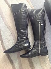 Beautiful Karen Millen Patent LEATHER Riding Boots Uk 5 'new with box'!! RRP£250