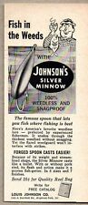 1958 Print Ad Johnsons Silver Minnow Fishing Lures Highland Park,Illinois