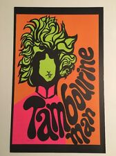 Tambourine Man & Devils Angel Blacklight Poster Pin-up Print Double Sided Dylan