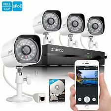 Zmodo 1080p 4CH PoE NVR Security System with 4 1.0MP Outdoor IP Cameras 1TB