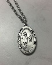 St.Christopher soccer medal with chain. Keeping GOD in sports.