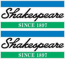 SHAKESPEARE - 350mm X 150mm X 2 - BOAT DECALS