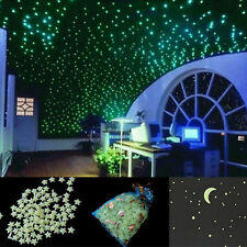 High 200pcs 3D Colored Star Sticker Home Decor Glow In The Dark Wall Decal Room