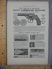 Rare Orig VTG Smith & Wesson Revolver Orchid Flower Pefume Advertising Art Print