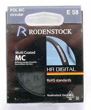 RODENSTOCK HR DIGITAL 58mm Pol Circolare Mc Filtro polarizzante 88025 NEW OLD STOCK