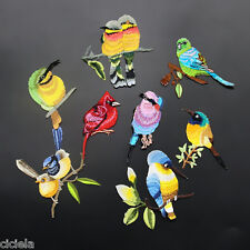 1Pc Sew Embroidery Birds Iron On Patch Badge Applique Patches With Glue Random