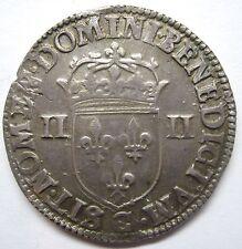 Très belle monnaie - 1/4 d'écu - Henri III - 1588 C - Saint-Lô -