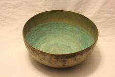 "Extremely Rare 100+ year Water Healing Singing Bowl G# Chakra 9.5"" ID#MP69 103h"