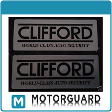 2 x Original Clifford Car Alarm Window Warning Stickers decal.