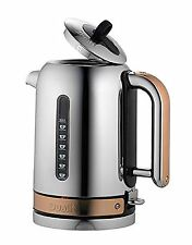 Dualit Polished Chrome Classic Kettle 1.7 L - Copper Trim NEW