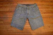 DOLCE & GABBANA AMAZING WASHED GREY DENIM DG MILANO BERMUDAS SHORTS 48 32 ITALY