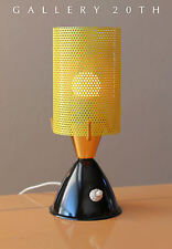VTG JACQUES BINY MID CENTURY MODERN ATOMIC YELLOW ACCENT LAMP! Eames 1950's Deco