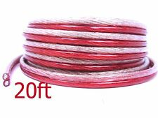20 FT TRUE High Performance 10 Gauge AWG Speaker Wire for Car Home Audio