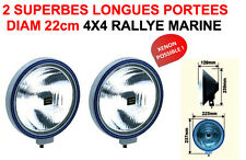 2 PHARES 22CM LIGHTFORCE HELLA CIBIE OSCAR RS F1TEAM GTI ABARTH AMG OPC 16S T16