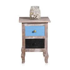 Nachttisch mit 2 bunten Schublade Nachtkonsole Schlafzimmer Schrank Shabby Holz