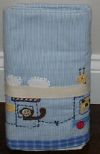 NWOT Pottery Barn Kids Baby Blue RYDER TRAIN Crib Bed Skirt