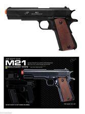 Classic 1911 6 mm Airsoft BB Hand gun BLACK All Metal Replica Shoots 270 FPS