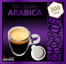 300 Italian Espresso Pods ESE. Karoma. (100% Arabica) EASY SERVE PODS!