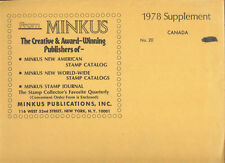 MINKUS CANADA SUPPLEMENT #20  FOR 1978