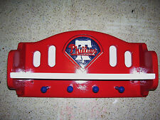 Bobble heads  Phillies peg shelf for collectibles 4 pegs can go bigger
