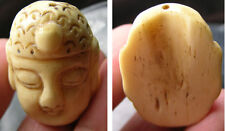 #2 Tibet100%  Natural Bone Hand Carving Buddha Pendant 1 7/16 in or 37.00mm