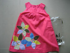 NEW Mini Boden Girls Pink Applique Summer Flower Dress 4-5 Y BNWT Fully Lined