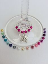 100 Wedding Butterfly Wine Glass Charms. Favours, Party, Celebrationh