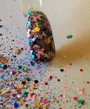 glitter mix acrylic gel nail Art        BOW -DACIOUS  Limited Edition