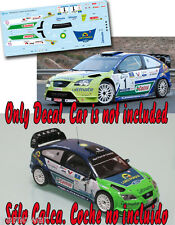 Decal 1:43 Alfonso Viera - FORD FOCUS WRC - Rally Maspalomas 2009 Winner