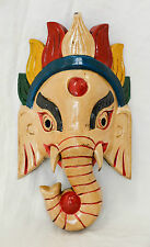 Wooden-Handcrafted-Lord-Ganesh-Elephant-Mask-Home Decorative