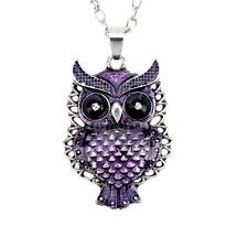 Fashion Owl Jewelry Silver Long Chain Pendant Vintage Owl Necklace Free Shipping