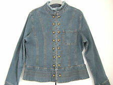 M&Co MILITARY STYLE DENIM JACKET SIZE 14