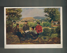 Mint 1939 USSR Soviet Union Postcard Young Joseph Stalin Student Learning