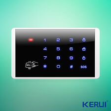 K16 Wireless RFID Touch Keyboard For PSTN GSM Home House Alarm System 433MHz