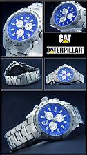 LUXUS CHRONOGRAPH- CAT UHR EXCLUSIVE DESIGN AZUR BLAU 10BAR WASSER DICHT