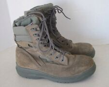 Belleville 610ZST Hot Weather Side-Zip Steel Toe Sz 7 W Sage Green Leather Boots