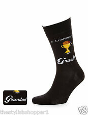 Marks & Spencers Superb Quality CHAMPION GRANDAD Socks Size 6-12 Black BNWT