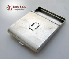Match Book Cover Hinged Arts and Crafts William Kerr Hammered Sterling Silver