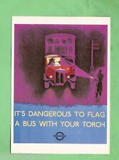 IMAGES OF WAR POSTER CARD - WWII, DO NOT TORCH BUSES IN BLACKOUTS