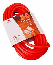 50 Feet 12 Gauge Extension Cord UL Lit End Contractor 3 Wire 12/3 Heavy Duty Ft