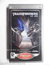 TRANSFORMERS LE JEU sur sony PSP game spiel juego gioco autobots action COMPLET