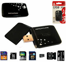 ALL IN 1 MULTI MEMORY CARD USB READER SD SDHC MINI MICRO M2 MMC XD