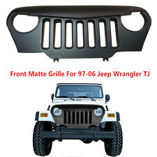 Angry Bird Front Matte Grill Grille Black ABS For 1997-2006 Jeep Wrangler TJ New