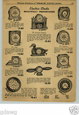 1948 PAPER AD Airplane Propellor Electric Clock Hand Carved Duck Clocks