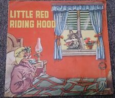 Little Red Riding Hood Rosa Collano D'oro Milano Pop Up circa 1950s