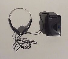 Coby CX-D60 Personal AM/FM Radio Stereo Cassette Player w/ Headphones