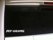 "#RIP Harambe Vinyl Sticker Car Decal 7"" P06 Forever Remember Love Gorilla"
