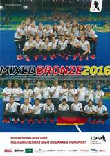 DHB Hockey Nationalmannschaften Mixed Bronze 2016 Rio Poster